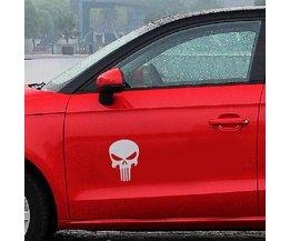 Sticker op Auto Doodshoofd