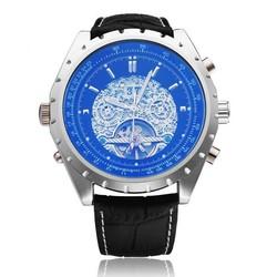 JARAGAR Heren Horloge Met Blauwe Wijzerplaat