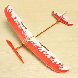 JS Thunder Bird Vliegtuigmodel met Elastiek Aandrijving