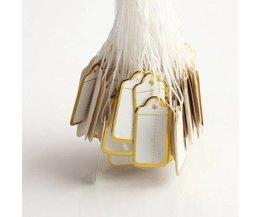 Papieren Labels met Touwtje (500 Stuks)