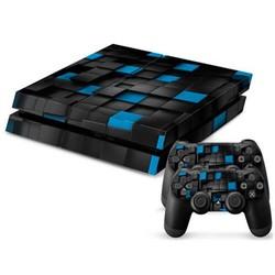 Supply Blauw-Zwarte Console Skin Voor De Playstation 4