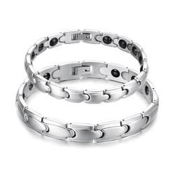 JS Magnetische zilveren armbanden