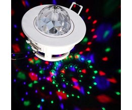 3W LED Draaiende Disco Lamp