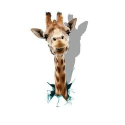 PAG Sticker PAG 3D Muursticker Met een Giraffe