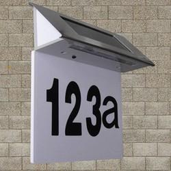 Supply Zonne Energie Verlichte Huisnummers