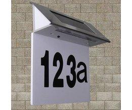Zonne Energie Verlichte Huisnummers