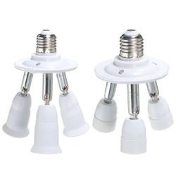 JS E27 E14 Lamp 3-Way Splitter