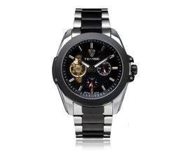 Mechanisch Horloge Mannen RVS Vliegwiel