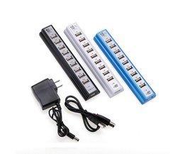 USB Hub met 10 Poorten