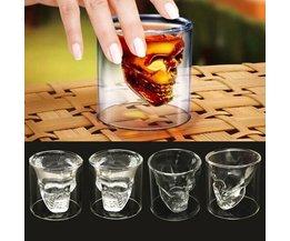 Schedel Glas 4 Stuks