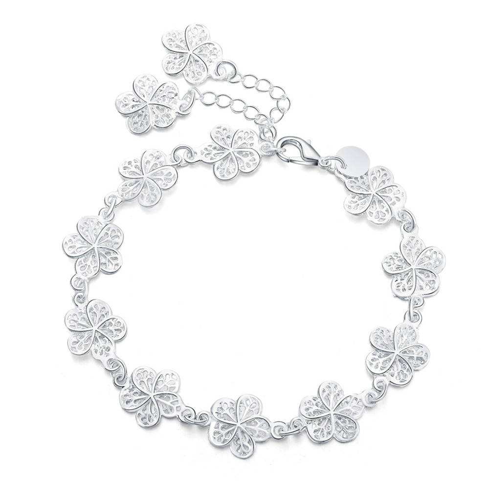 komen Mooie armband noble bloem chain Wedding Party Zilver leuke lady mooi vrouwen armband sieraden