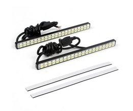 Wit & Amber DRL Auto Led-dagrijverlichting Richtingaanwijzer Lampje 42 LED Chips Auto Styling DC 12 V 2 Stks # iCarmo