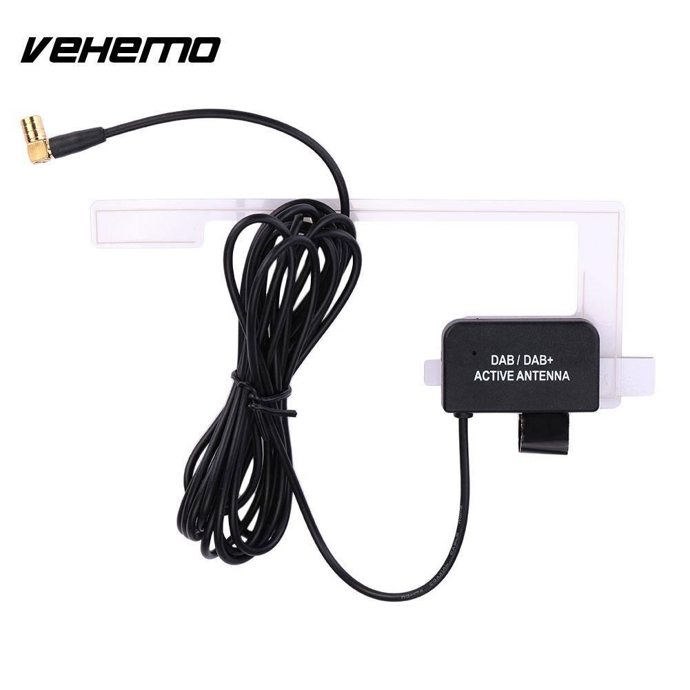 VEHEMO Universele Auto Digitale Radio Antenne Actieve Haakse Auto Voertuig Antenne Connector Speler
