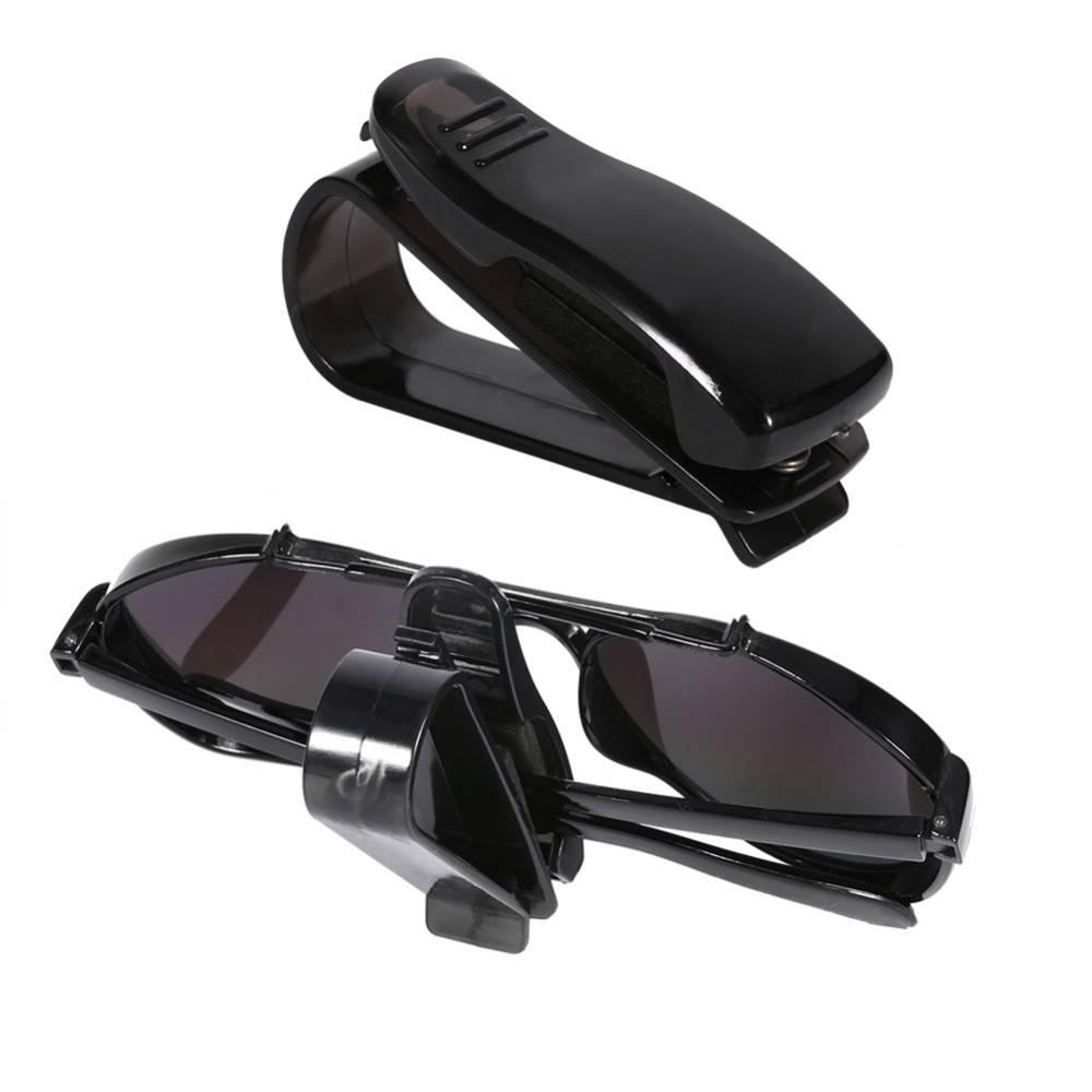 15b54176d84d6e MyXL Auto Voertuig Clip Auto Accessoires Zonneklep Zonnebril Brillen Bril  Ticket Houder Clip Universele Zwart