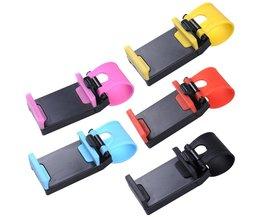 Universele auto stuurwiel mobiele telefoon houder beugel voor iphone 4 5 6 s plus voor samsung s4 s5 s6 smartphone ondersteuning gps