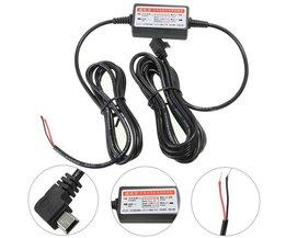 Mini/Micro Usb-poort Draad Kabel Auto-oplader Kit Voor Camera Recorder DVR Exclusieve Voeding Doos