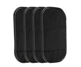 4 Stks Black Magic Sticky Pad Anti Slip Mat Dashboard voor Mobiele Telefoon ME3L