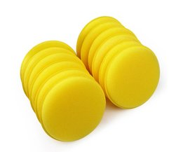 12 stks/set Autowas Spons Automobiel Schoonmaken Tool Auto Care Geel Anti-kras Applicator Pads Tyre Dressing Foam