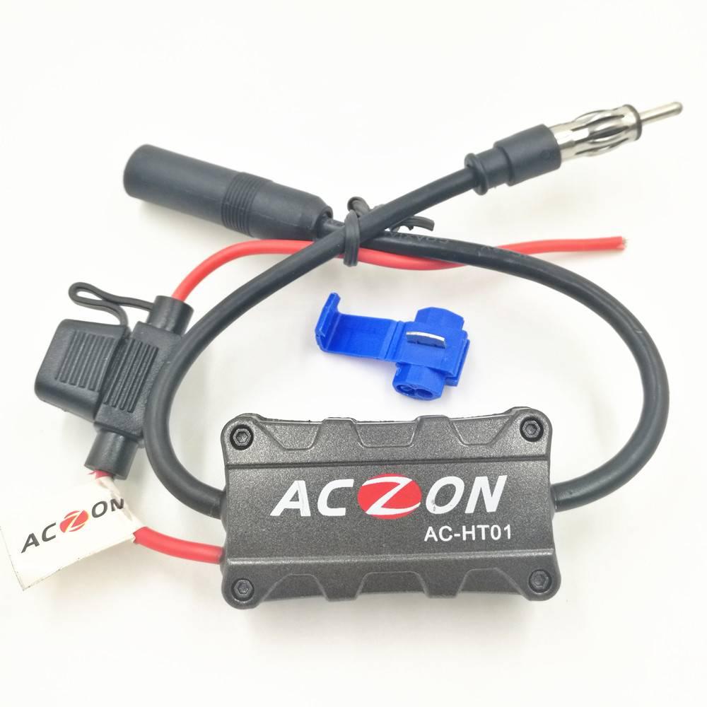 Autoradio FM Antenne Signaal Versterker Booster voor Zowel AM en Fm-radiozenders (6.8)