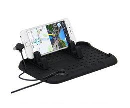 Digitalboy Auto Telefoon Houder Mobiele Pad Verstelbare Beugel Stand voor iPhone 6 s Samsung xiaomi Auto Mount Houder + USB kabel Opladen