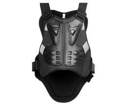 WOSAWE Body Protector armor motorjacks Motocross back shield mouwloos vest Spine Borst Beschermende gears Jacket mens