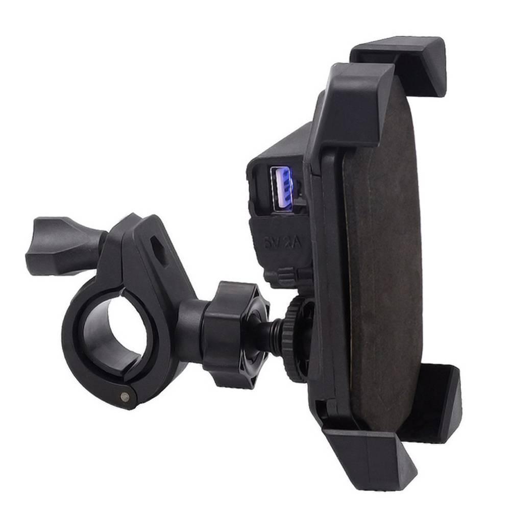 Motorcycle Fietsstuur Mobiele Telefoon GPS Mount Houder Intrekbare Grip Telefoon Houder motorfiets U