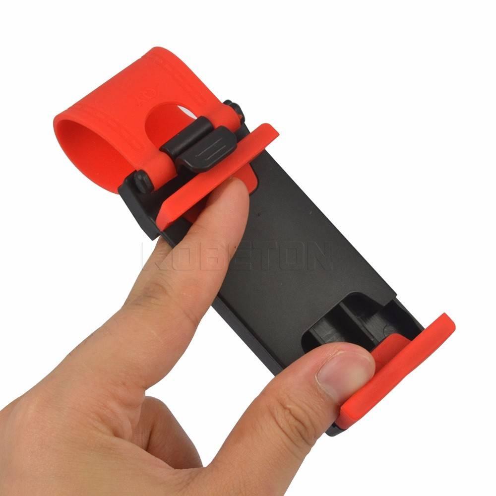 Universele auto stuurwiel bike clip houder voor samsung iphone telefoon gps auto accessoires