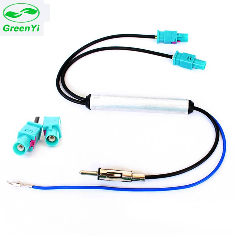 GreenYi Auto Radio Signaal Versterker Twins Dual FAKRA Radio Adapter Amplified Antennes Antenne Voor