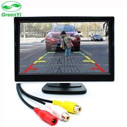 MyXL GreenYi 5 Inch Auto TFT Kleur LCD Achteruitrijcamera Monitor Digitale Scherm Ondersteuning VCD DVD GPS Camera met 2 Video-ingangen