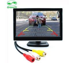 GreenYi 5 Inch Auto TFT Kleur LCD Achteruitrijcamera Monitor Digitale Scherm Ondersteuning VCD DVD GPS Camera met 2 Video-ingangen
