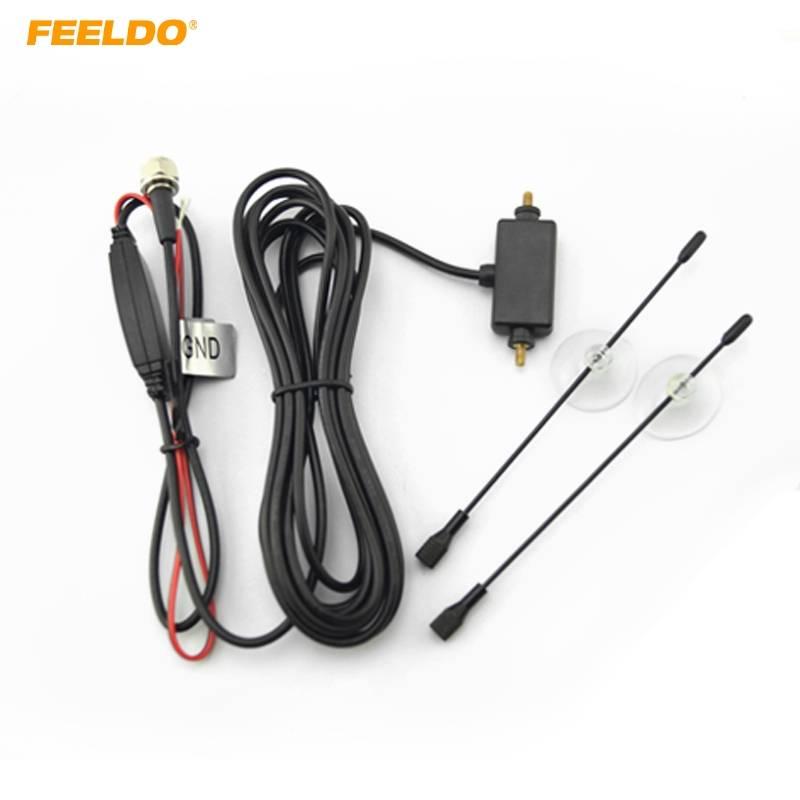 FEELDO Auto F Connector Digitale Tv-antenne Auto met Ingebouwde Booster Versterker # FD-909
