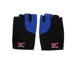 2 Stks Zwart Blauw Neopreen Vingerloze Sport Handschoenen voor Mannen