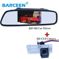 """MyXL Auto backup camera hd ccd beeldsensor + 4.3 """"auto achteruitkijkspiegel voor Fluence/Dacia Duster/Megane 3/voor Nissan Terrano"""