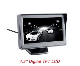 Viecar 4.3-inch kleuren TFT LCD monitor display parkeer achteruitkijkspiegel backup 4.3 ''video PAL/NTSC