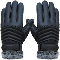 MyXL Xmt-moto-auto motorfiets winter handschoenen pu lederen motor fiets e-fiets handschoenen gants moto winddicht fietsen warming handschoenen 1 paar