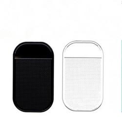 MyXL 2X Auto antislip Pad Auto Dashboard Adhesive Houder Mat Sticky Telefoon Pad voor iPhone Samsung Smartphone 13X7 CM Zwart + Transparant