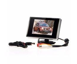 "Kebidumei 3.5 ""TFT LCD Auto Monitor Auto TV Auto achteruitrijcamera monitor Parkeerhulp Backup Reverse Monitor Auto DVD Screen"