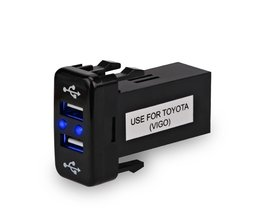 Dual USB Charger USB Adapter Socket Interface Voor Toyota VIGO 5 v 4.2A Auto 2 Poort interface Dashboard Socket Auto modificatie