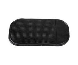Zwart 14x8.5 cm Auto Antislip Dash Mat Dashboard Phone Pad Hoder Auto-interieur Accessoires