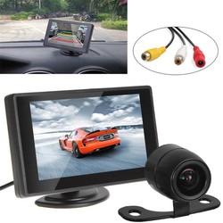 """MyXL Parkeer Kit Met 4.3 """"kleur TFT Lcd-scherm Auto Monitor Ondersteuning 480x272 Resolutie + Waterdichte Achteruitrijcamera Auto Camera"""