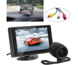 "Parkeer Kit Met 4.3 ""kleur TFT Lcd-scherm Auto Monitor Ondersteuning 480x272 Resolutie + Waterdichte Achteruitrijcamera Auto Camera"