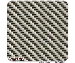 TSTQ104 0.5 m * 2 m Koolstofvezel Grey en Black Populaire Patroon PVA Water Transfer Printing Film hydro dompelen film