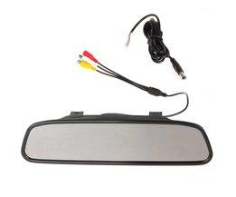 Omkeren parking monitor,4.3 inch TFT LCD-KLEURENSCHERM Monitor achteruitkijkspiegel