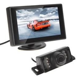 MyXL Waterdichte CMOS 420 TVLs Auto Achteruitrijcamera Nachtzicht Auto Monitor Met 4.3 Inch TFT LCD Monitor Voertuig Parking Assistance