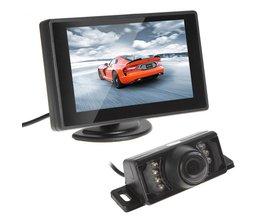 Waterdichte CMOS 420 TVLs Auto Achteruitrijcamera Nachtzicht Auto Monitor Met 4.3 Inch TFT LCD Monitor Voertuig Parking Assistance