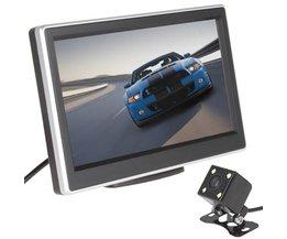 5 Inch 480x272 Pixel TFT LCD-KLEURENSCHERM Car Rear View Monitor 420 TV Lijnen 170 Graden Lens Nachtzicht Camera