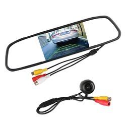 "MyXL Universele Auto Achteruitrijcamera 120 Graden Hoek Reverse Camera met 4.3 ""TFT LCD Spiegel Monitor Parkeerhulp Systeem"