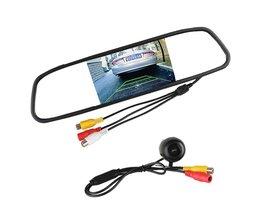 """Universele Auto Achteruitrijcamera 120 Graden Hoek Reverse Camera met 4.3 """"TFT LCD Spiegel Monitor Parkeerhulp Systeem"""