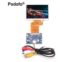"Podofo 3.5 ""TFT LCD Display RGB Lcd-scherm Module Kit, Monitor Scherm voor auto, digitale Fotolijst multifunctionele Auto-styling"
