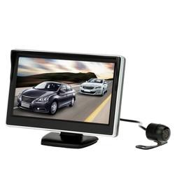 "MyXL 5 ""TFT LCD Auto Monitor Parking Assistance Auto achteruitrijcamera met spiegel monitor Backup Reverse Auto TV Monitor Auto DVD Screen"